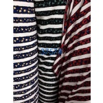 Cute Pattern Stripes Fabric Suit For AW