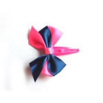 Ribbon Bow Hair Clip Snap Clip