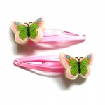 Poly Butterfly Hair Clip Snap Clip