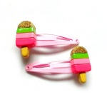 Poly Icecream Hair Clip Snap Clip