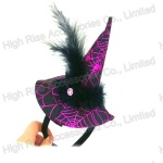Halloween Big Witch Hat Headband, Party Headband, Fearther Headband