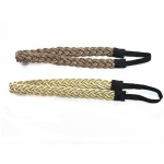 Chains And Fabric Braided Elastic Headband
