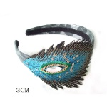 Ethnic Embroidered Peacook Tail Alice Band