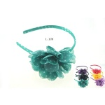 Dotted Chiffon Flower Alice Band