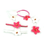 Felt Orchid Flower Alice Band Headband And Hair Clip Kits