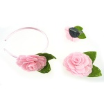 Felt Rose With Leaf Alce Band