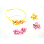 Flower Alice Band And Hair Clip Kits
