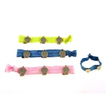 Skull Charm Elastic Ponytail Holder