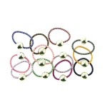 Striped Elastic Ponytail Holder With Charm