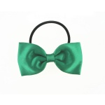 Green Bow Elastic Ponytail Holder