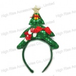 Sequin Christmas Tree and Star Headband Party Headband