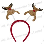 Christmas Reindeer Head Headband, Party Headband, Promotional gift