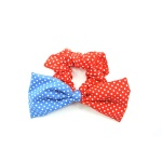 Dotted Double Colored Bow Scrunchies