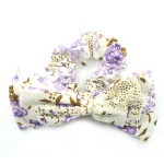 Floral Pattern Fabric Bow Scrunchies