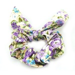 Flowers Pattern Bow Scrunchie