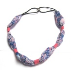 Colorful Pattern Knotted Chiffon Headband