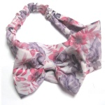 Floral Big Chiffon Bow Headband