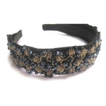 Sewed Beaded Flower Alice Band