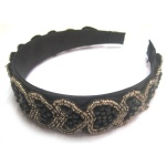 Beaded Heart Pattern Alice Band