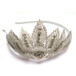 Beaded Crown Alice Band