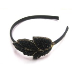 Beaded Leafage Ornament Alice Band