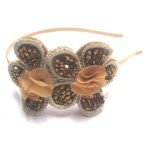 Beaded Double Flower Alice Band