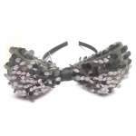 Large Sequin Mesh Bow Alice Band