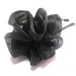Black Tulle Flower Alice Band