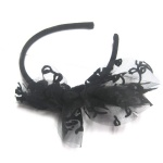 Black Lace Bow Alice Band