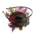 Feather Colored Cap Alice Band