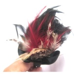 Colorful Feather With Black Bow Alice Band