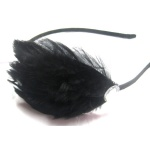 Black Feather Fascinator Alice Band