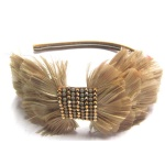Feather Bow Alice Band