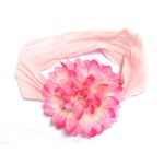Pink Flower Stretch Band Headband