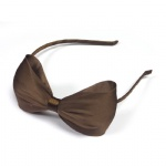 Mesh With Chiffon Fabric Bow Alice Band