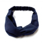 Navy Blue Cotton Fabric Head Wrap