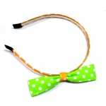 Polka Dots Bow Alice Band