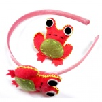 Felt Frog Alice Band And Hair Clip Set