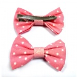 Small Dots Bow Hair Clip
