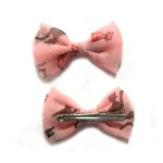 Cat Pattern Chiffon Bow Hair Clip Alligator Clip