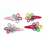 Colorful Small Elastic Flower Snap Clip