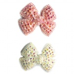 Colorful AB Crystal Bow Hair Clip