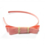 Pale Pink Bow Alice Band