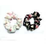 Spring Colors Floral Scrunchies
