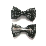 Black Lace Pattern Bow Hair Clip Alligator Clip