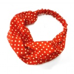 Small Dots Red Chiffon Headwrap