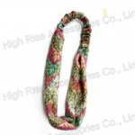 Colored Pattern Woven Headband Headwrap