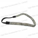 Chain Edge Crystals on Soft PVC Elastic Headband
