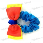 Two Color Tone Grosgrain Ribbon Bow Scrunchies