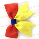 Two Color Tone  Grosgrain Ribbon Butterfly Bow Hair Clip